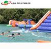 Parque flotante inflable del agua, parque de atracciones inflable del agua para los juegos del agua