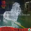 Animale del leone del LED 3D che modella l'indicatore luminoso esterno della decorazione di natale