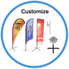 Custom Outdoor Rotary Windproof Beach Flag pôle pour Advertisting