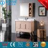 Gesundheitliches Ware-Badezimmer-moderner Eitelkeits-festes Holz-stehender Schrank by-F8075