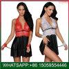 Hot Sale Women's dentelle Lingerie Lingerie robe rouge G-Nuisette coton Vêtements de nuit Vêtements de nuit