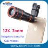 Telefone celular Universal Telescópio Teleobjectiva de zoom de 12X para smartphones