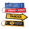 Ändert kundenspezifisches Hight Qualitätsstickerei-Abzeichen gesponnene Kennsatz-Stickerei Keychain (YB-pH-KH)