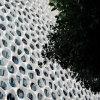 Höhepunkt-weißes Farben-runde Form-Auslegung Peforated Aluminium-Panel