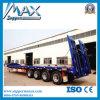 4 Radachsen 80tons Hydraulic Low Bed Semi Truck Trailer