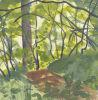 Картина маслом ландшафта пущи (LH412000)