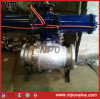 Steel di acciaio inossidabile Trunnion Ball Valve con Actuator
