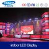 P4 de interior LED que hace publicidad de la pantalla de visualización
