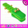 2015 Los mejores juguetes de los niños juegan Instrumentos Castanet Toy, instrumento de percusión musical, Crocodile Deisgn Wooden Castanet Toy W07I117