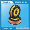 2018 La alta calidad a bajo precio Círculo amarillo marcador de cables para los cables que van de PVC eléctrico
