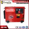 gerador Diesel do motor Diesel silencioso super da maquinaria 7kVA 7 quilowatts trifásicos