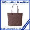 Le produit d'OEM a personnalisé le sac à main promotionnel de plage d'emballage de toile de coton estampé par logo (6525)