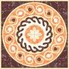 Tegel 1200X1200mm van de Vloer van het Kristal van het Tapijt van het Patroon van de bloem Tegel Opgepoetste Ceramische (BMP16)