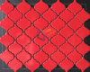 Mosaico de cerámica brillante de color rojo brillante (CST142)