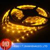 3528 tiras flexibles amarillas de la luz de SMD LED