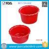 Cookware rosso di ceramica della muffa del pudding dell'articolo da cucina all'ingrosso