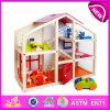 2015년 Kids를 위한 최신 New Product Toy Wooden Toy Doll House, New Style Hot Sale Wooden Doll House, DIY Child Wooden Doll House W06A098