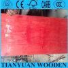 madera contrachapada de la construcción del álamo de 18m m sin la película, tarjeta roja