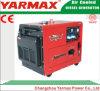 Alternador Diesel Soundproof Genset silencioso do jogo de gerador da potência de Yarmax 9kw 9000W