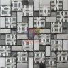 Pattern Mix Crystal Mosaic Tile (CFM919)のステンレス製のSteel
