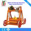 A máquina de fatura de tijolo popular Best-Selling da postura do cimento da maquinaria Qmy4-45 da elevação lucra o Indian oco da venda da máquina de fatura de tijolo