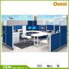 Bureau unique; l'acier de partition système de tuiles Station de travail (OMNI-MP-0K)