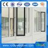 알루미늄 프레임 강화 유리 외부적인 여닫이 창 Windows