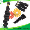 中国の工場によって供給されるブラジルボディ波の人間の毛髪の拡張
