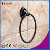 Fyeer schwarze Badezimmer-Beschlag-Messingtuch-Ring