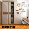 Wardrobe de madeira pequeno da porta deslizante do hotel dois de Oppein (OP15-HOUSE3)