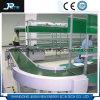 Transporte de correia motorizado Turnning do PVC do cilindro de 90 graus