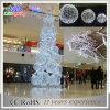 Luz ao ar livre redonda branca da árvore da esfera do Natal da decoração 3D