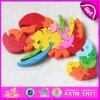 Bon marché de jouets éducatifs en bois Alphabet animaux Puzzle jouet pour l'apprentissage W14J031