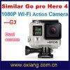 G3 vão o PRO herói 4 que do estilo WiFi Waterproof 30 da ação medidores de câmera DV do esporte (OX-G3)