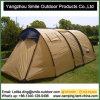 Pessoa 4 barraca de acampamento personalizada 3 estações da família do túnel da impressão