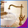 Faucet chapeado ouro da embarcação do banheiro de Fyeer