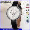 Relógio de pulso do fabricante das senhoras de quartzo da cinta de couro da forma (Wy-091E)