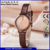 Montre de dames occasionnelle de quartz de courroie en cuir d'ODM d'OEM (Wy-133E)