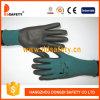 Ddsafety 2017 dunkelgrünes Nylon mit schwarzem Nitril-Handschuh
