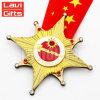 Дешевые Custom выгравированными звезда печать Мэтт золотая медаль