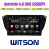Witson gran pantalla de 10,2 de Android 6.0 alquiler de DVD para Volkswagen Skoda excelente