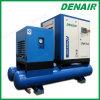 Compresor de aire del tornillo de la integración con el tanque del aire, filtro, secador de la adsorción