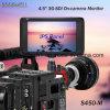 4K entrée HDMI® 1280X 800 panneau IPS 4,5 sur support de caméra-moniteur LCD SDI