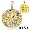 새로운 디자인 14K 금에 의하여 도금되는 힙합 보석 펜던트 도매