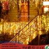 La chaîne de caractères extérieure d'Een Lantaarn de glaçon de rideau en abattemen 0.3-0.5m DEL de la décoration 3.5m de lumières de Noël d'éclairage de DEL allume la lumière de guirlande de noce