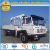 Shacman 4X2 선적 트럭은 6개 T 똑바른 팔 기중기로 거치했다