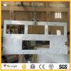 Professional personnaliser italien meuble lavabo en marbre blanc de Carrare Tops (avec joint edge)