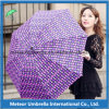 Items de lujo Color Printing Fold Sun y Rain Promotion Gift Women Parasol Umbrella