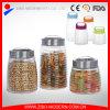 Vaso di vetro di memoria personalizzato miele poco costoso all'ingrosso con il coperchio del metallo