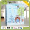 Peu sac de papier d'enfants d'ours de cadeau enduit bleu d'art